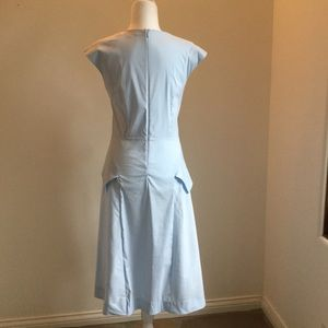 COS Dresses - COS light blue cotton asymmetrical dress